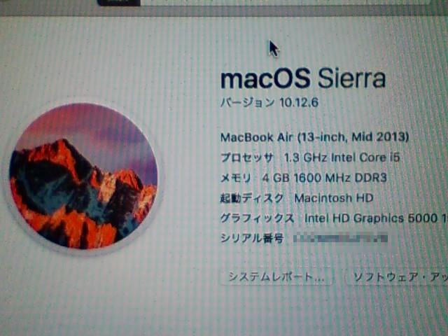 macOS Sierra 10.12.6 。