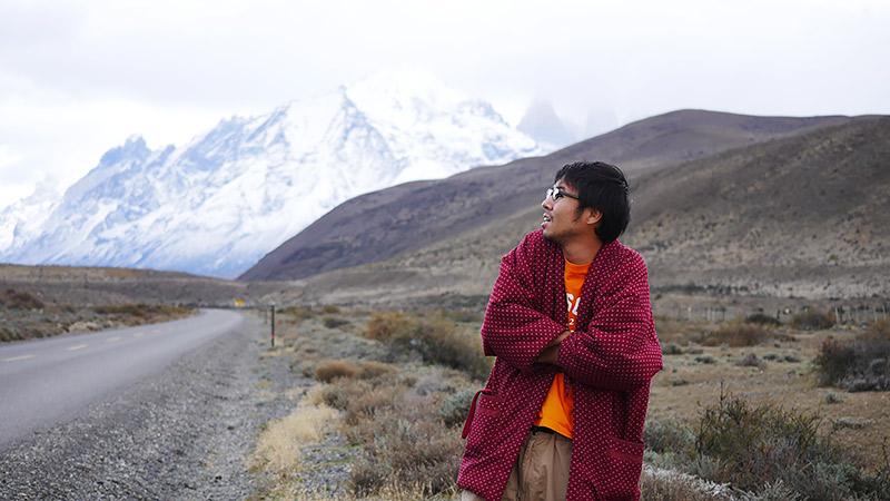 日本の防寒具「どてら」でパタゴニアの寒さに挑む