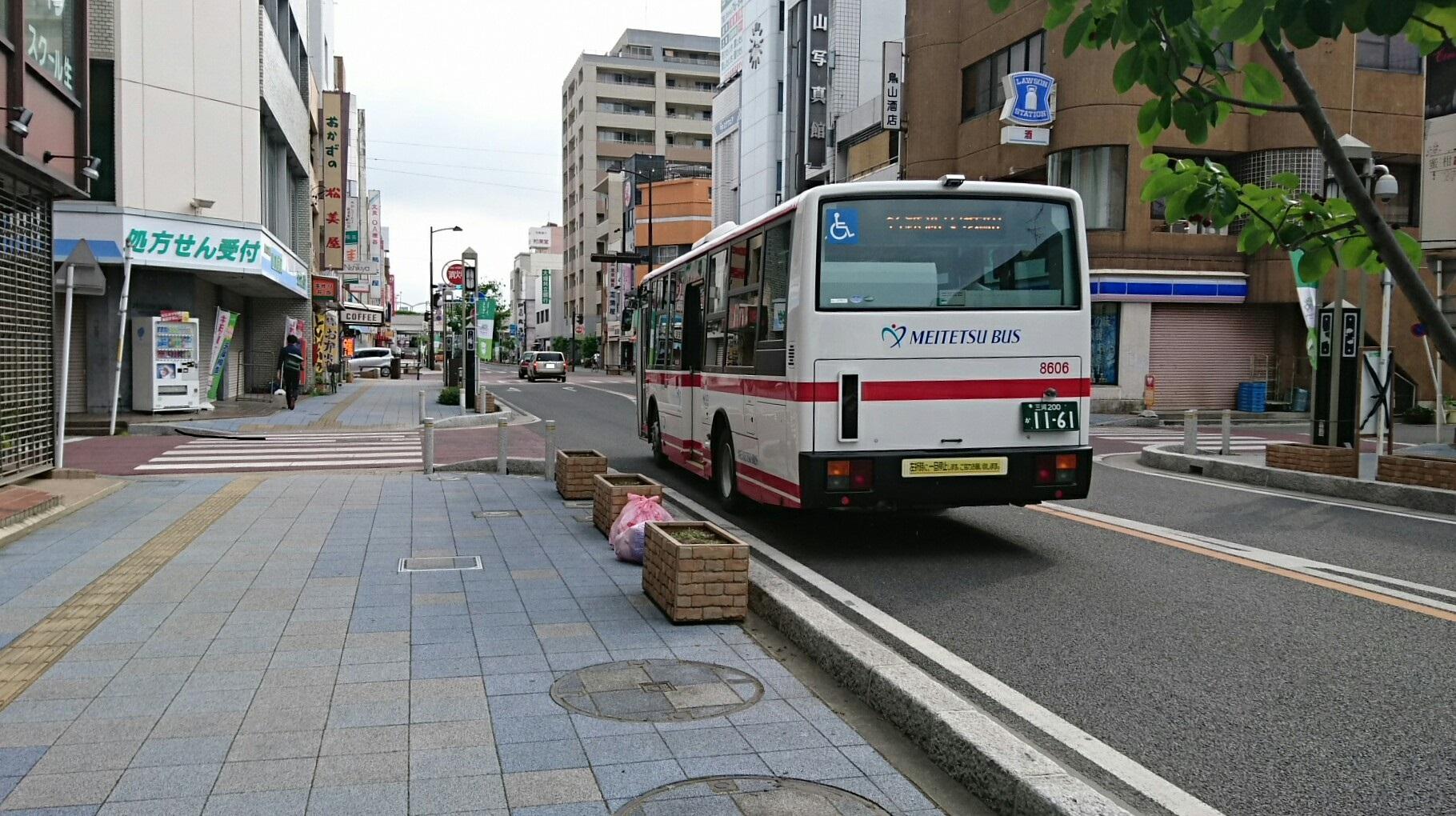 2017.6.1 (4) 御幸本町交差点みなみ - 名鉄バス 1820-1020