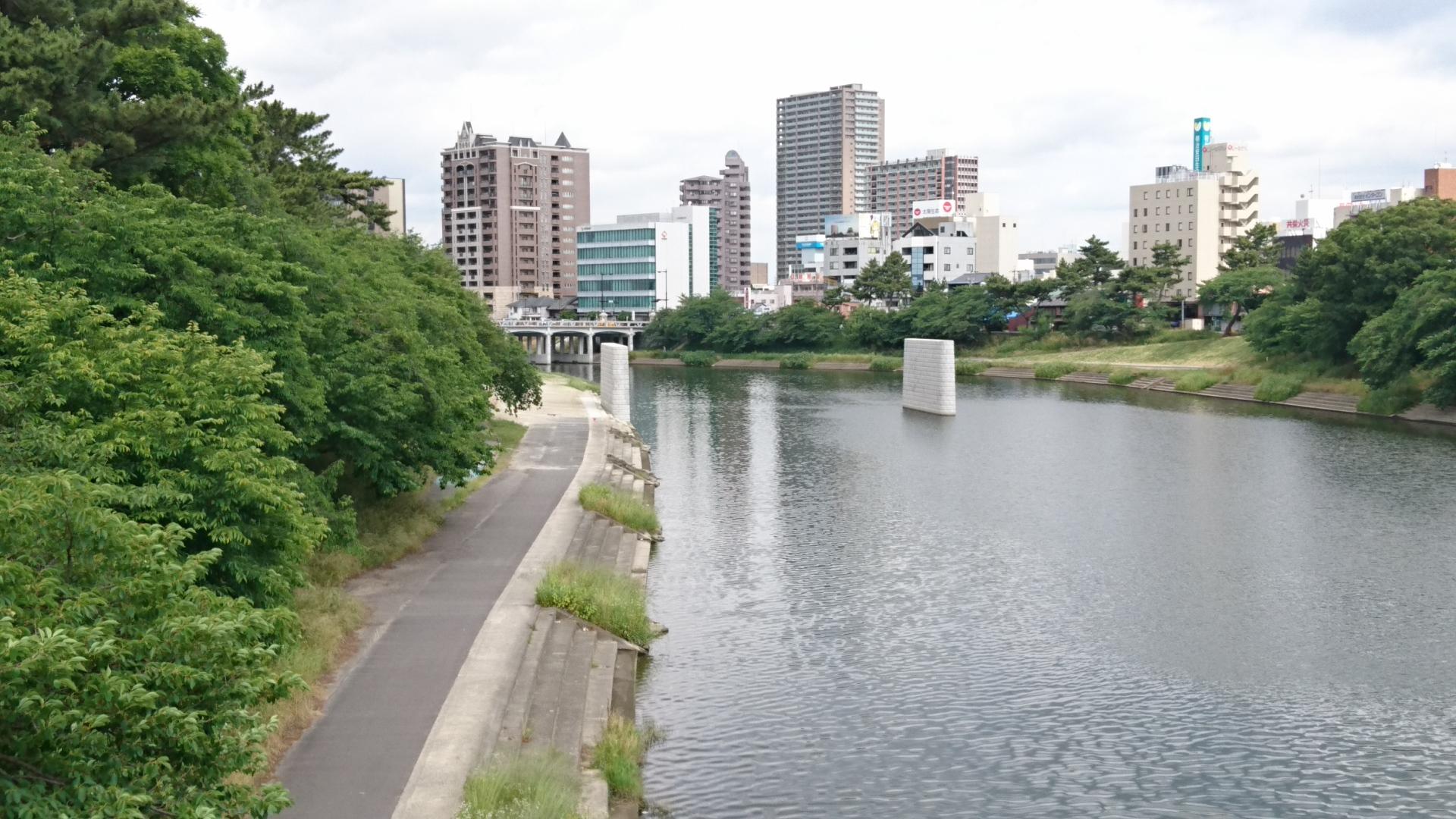 2017.6.6 乙川人道橋の橋脚 (1)