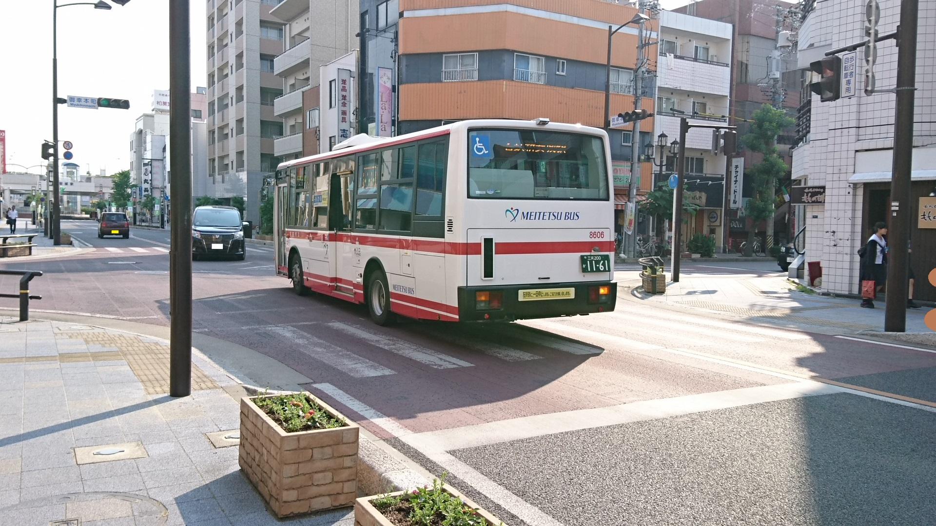 2017.6.16 御幸本町交差点 - 名鉄バス (2) 1920-1080