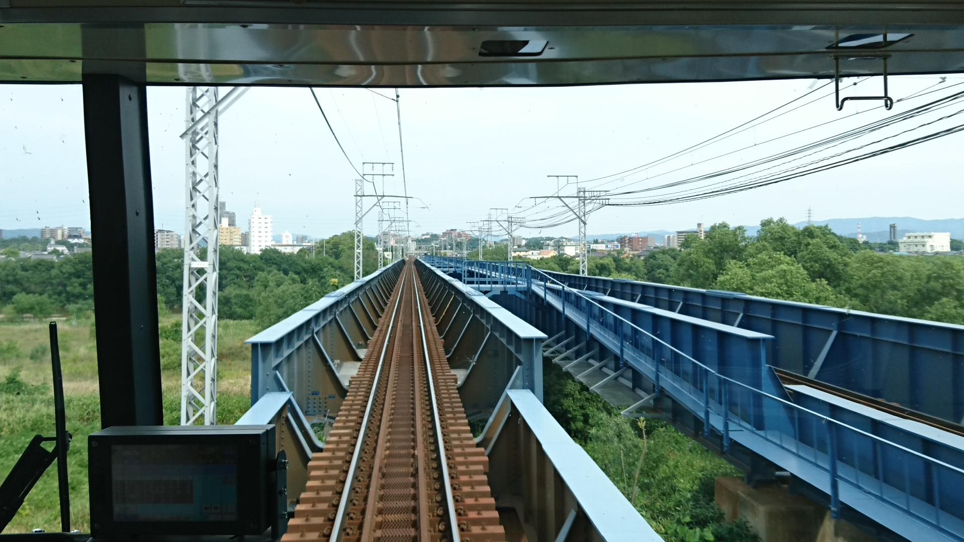 2017.6.24 東岡崎 (14) 豊橋いき急行 - 矢作川 1920-1080