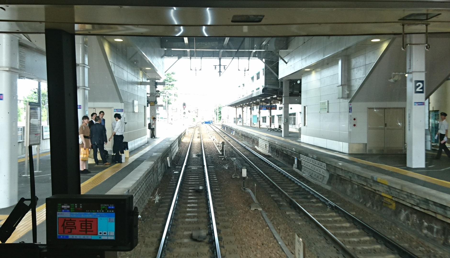 2017.6.24 東岡崎 (19) 豊橋いき急行 - 東岡崎 1880-1080