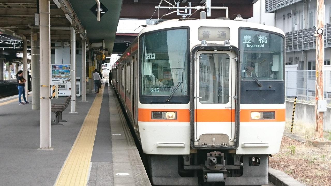 2017.6.27 岐阜発豊橋いきふつう (2) 岡崎 1280-720