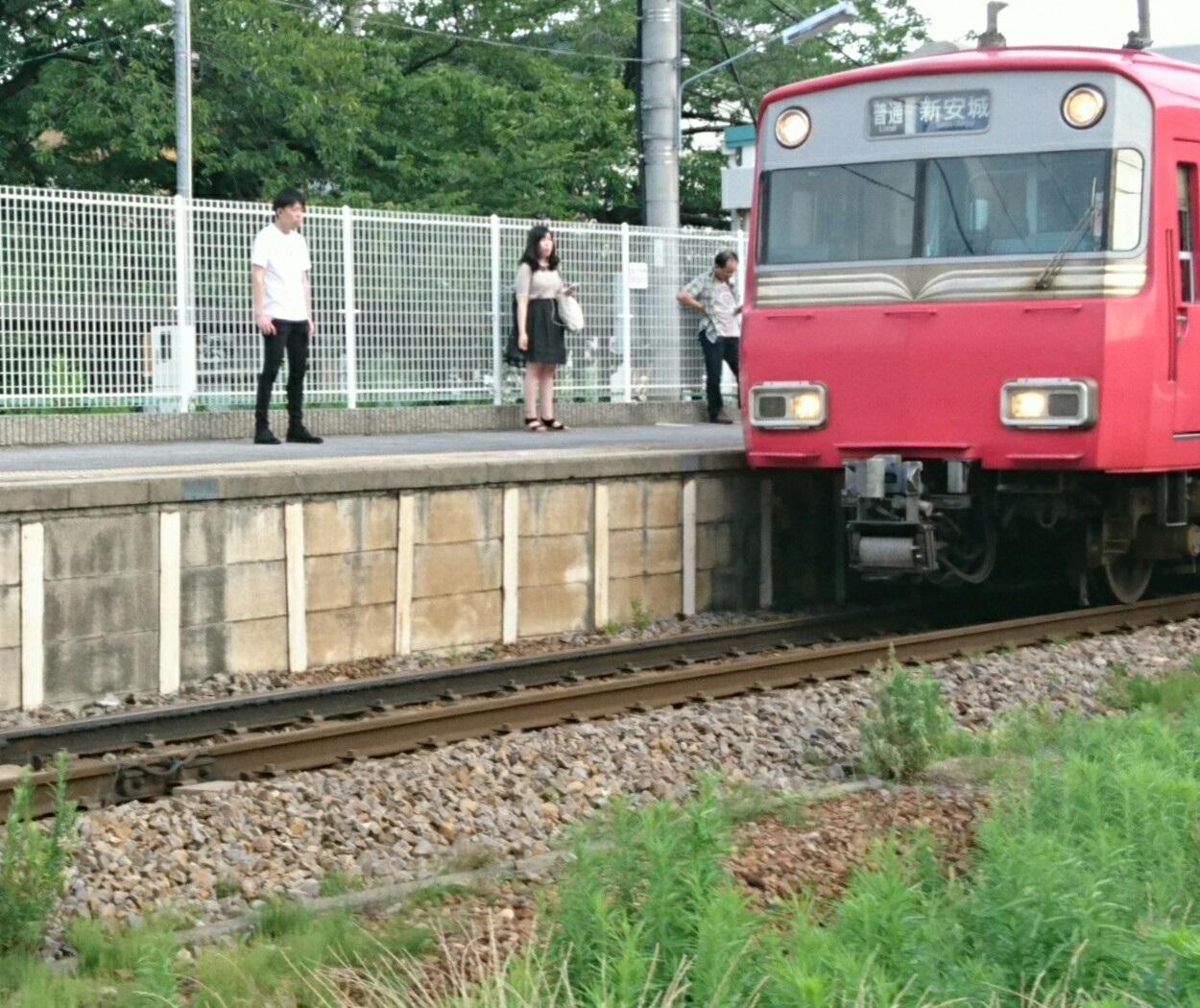 2017.7.1 えきそうじ (3) 古井 - しんあんじょういきふつう 1250-1050