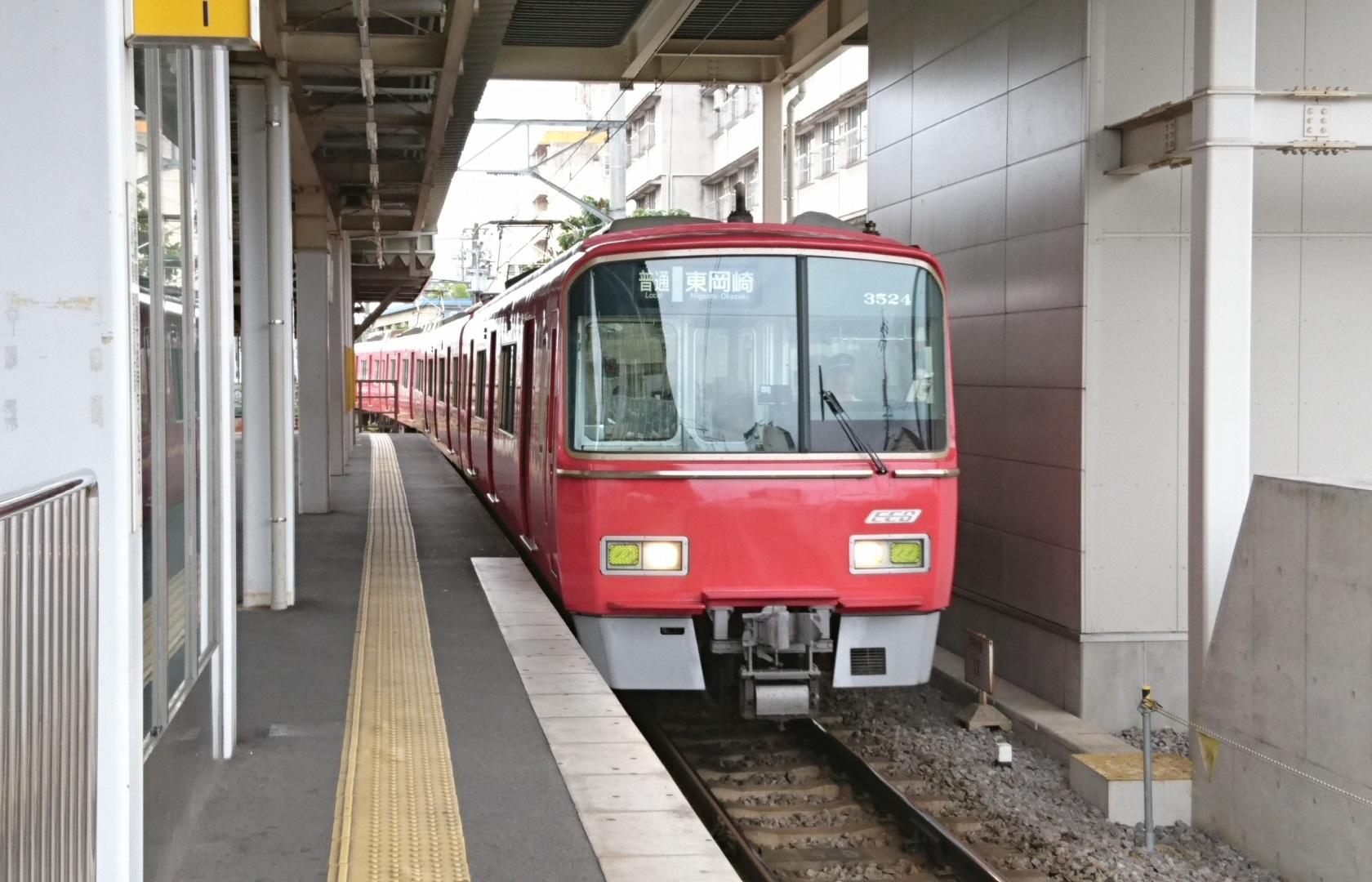 2017.7.9 名鉄 (4) しんあんじょう - 東岡崎いきふつう 1680-1080