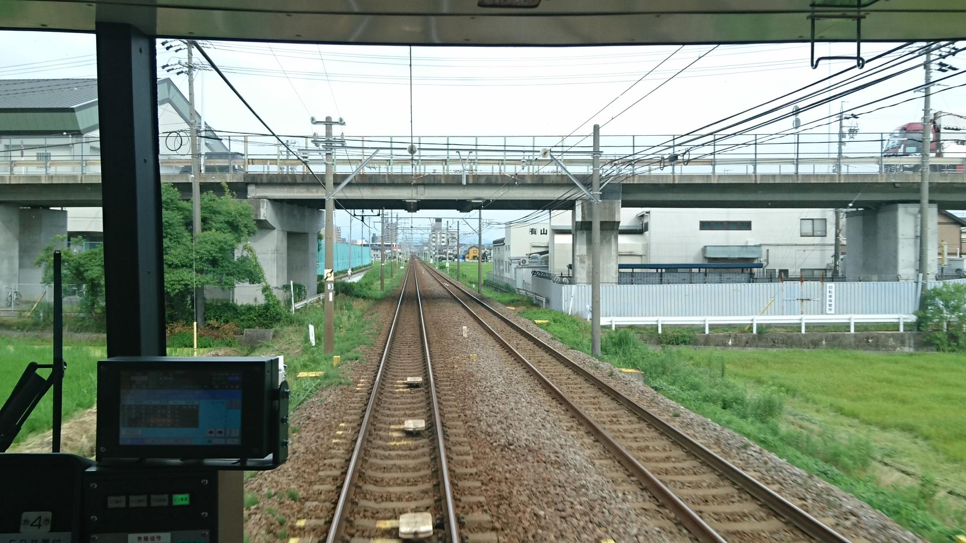 2017.7.9 名鉄 (14) 東岡崎いきふつう - えきかん 1920-1080