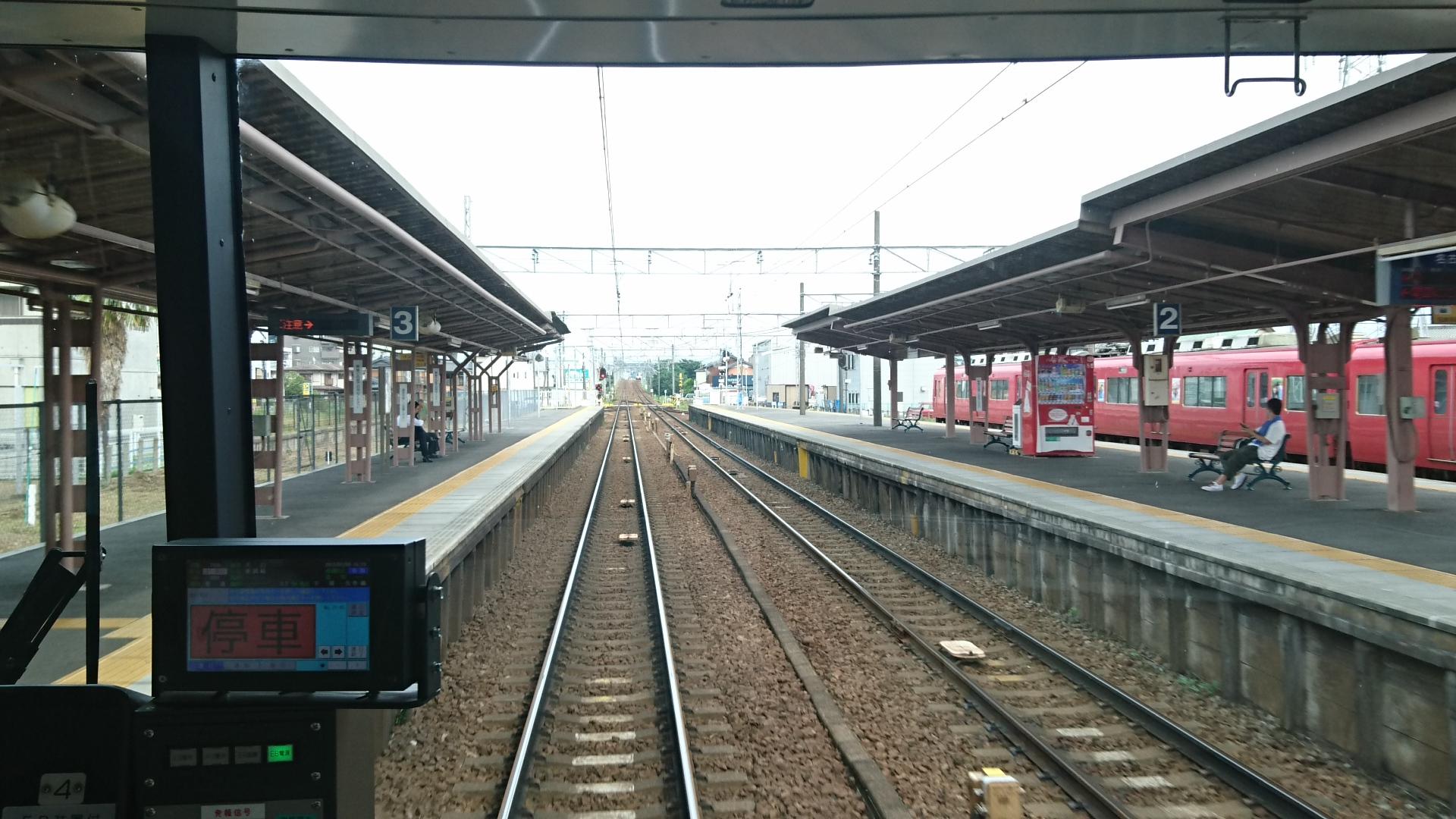 2017.7.9 名鉄 (16) 東岡崎いきふつう - 矢作橋 1920-1080