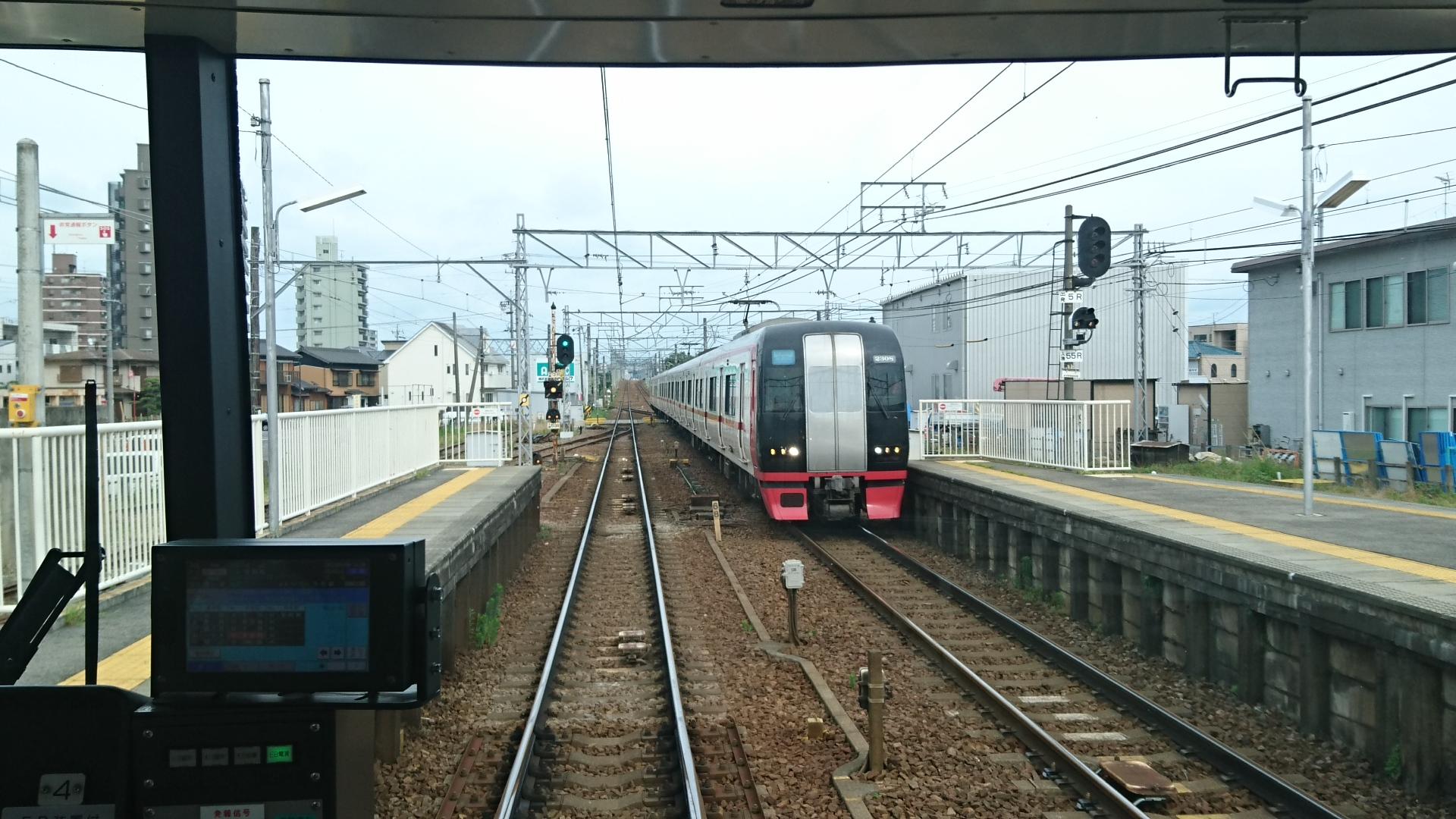2017.7.9 名鉄 (17) 東岡崎いきふつう - 矢作橋(新鵜沼いき快速特急) 1920-1080