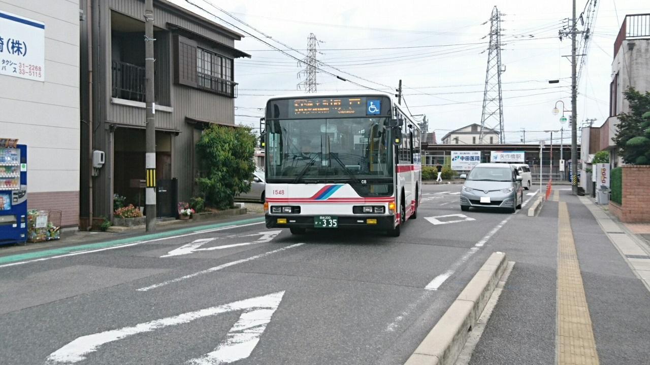 2017.7.9 名鉄 (24) 矢作橋駅 - 坂戸いきバス 1280-720