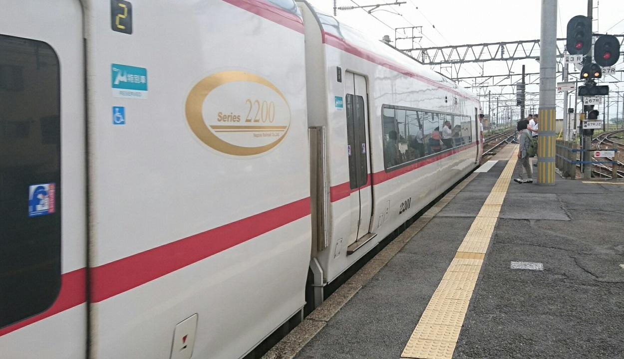2017.7.10 名古屋 (9) しんあんじょう - 岐阜いき特急特別車 1250-720