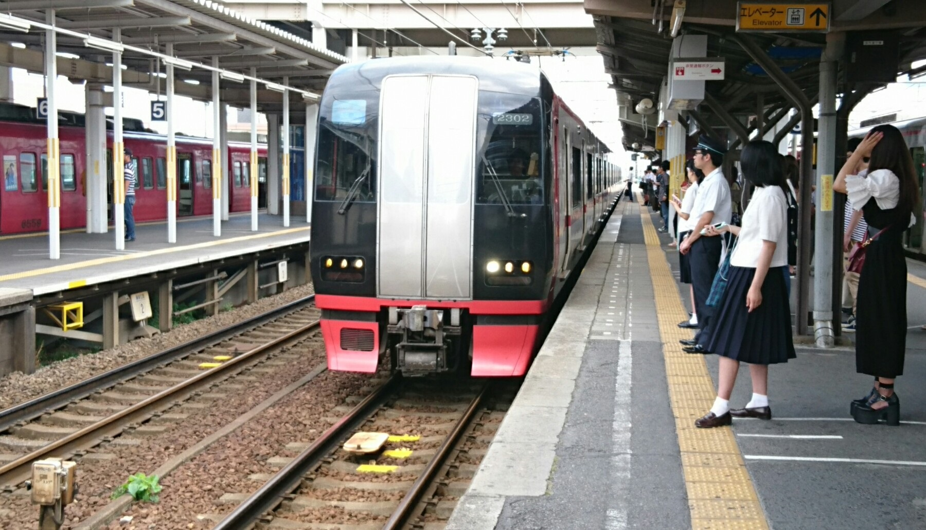 2017.7.13 名鉄 (5) しんあんじょう - 岐阜いき特急 1800-1030