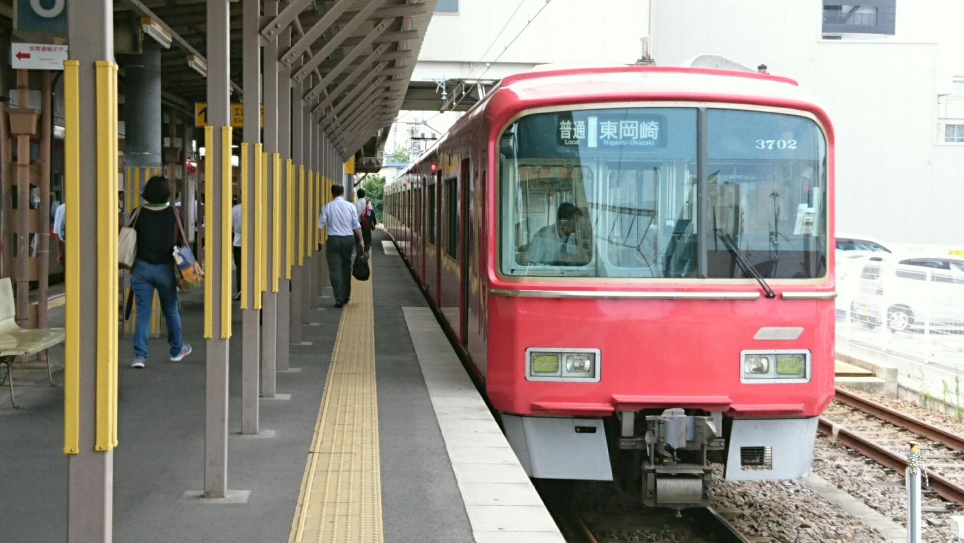 2017.7.13 名鉄 (32) しんあんじょう - 東岡崎いきふつう 1900-1070