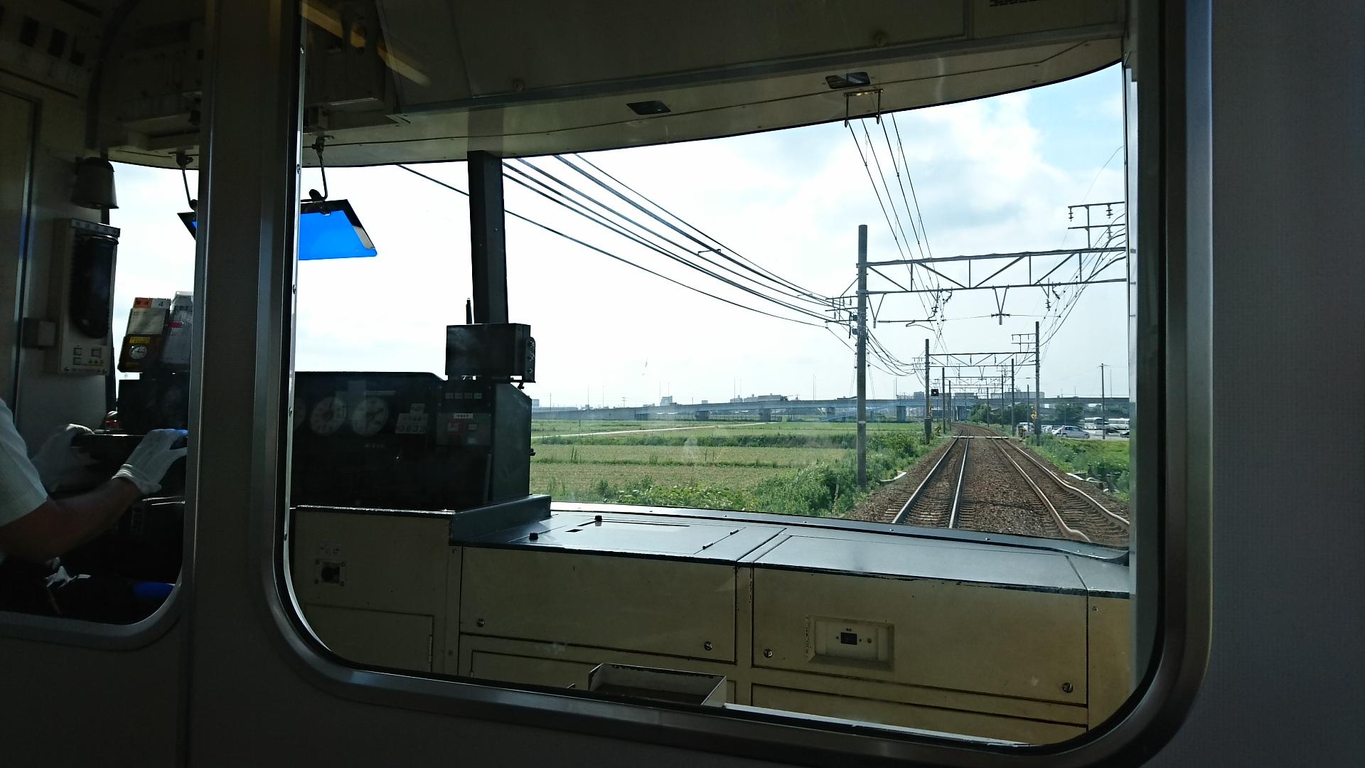 2017.7.13 名鉄 (36) 犬山いきふつう - 宇頭-しんあんじょう間 1920-1080