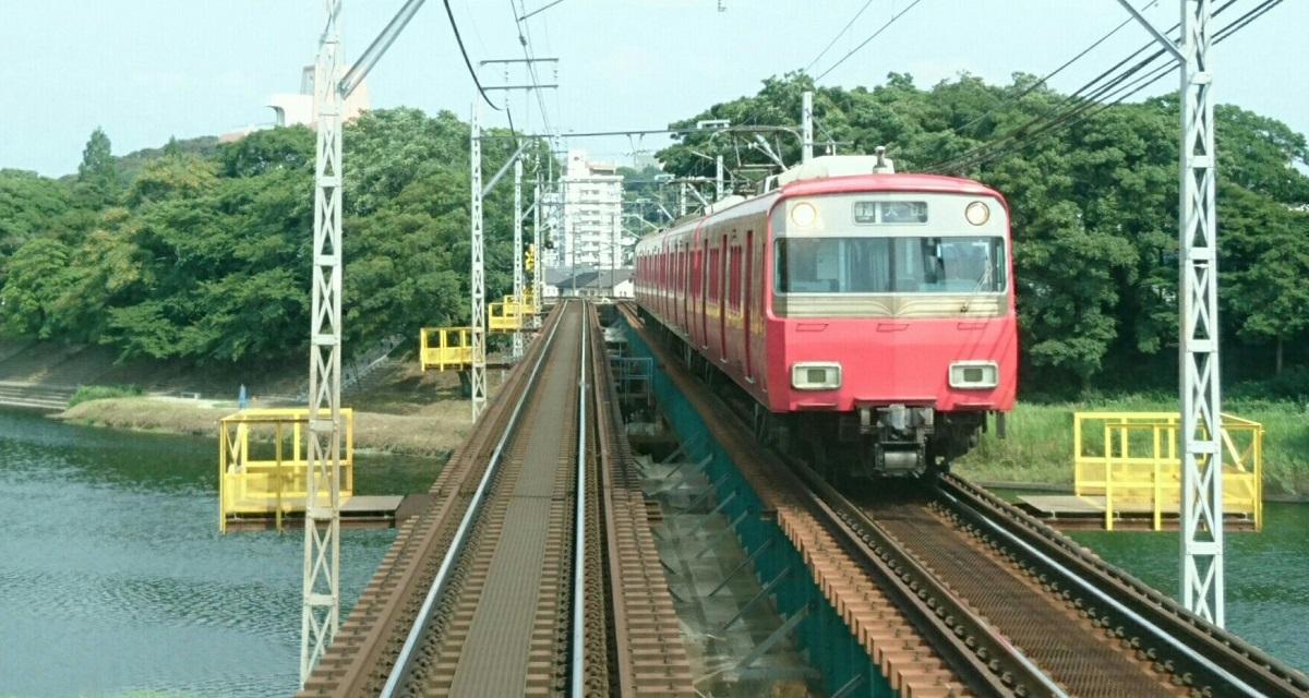 2017.7.16 名鉄 (24) 東岡崎いきふつう - 菅生川をわたる