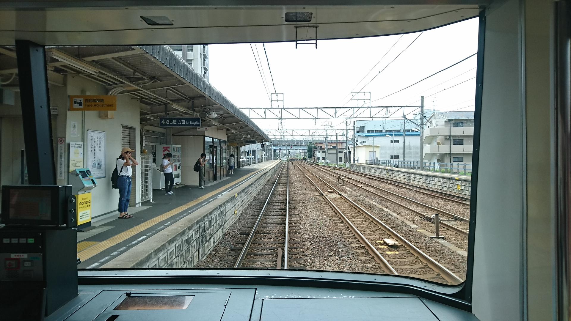 2017.8.3 笠松 (17) 須ヶ口いきふつう - 岐南 1920-1080