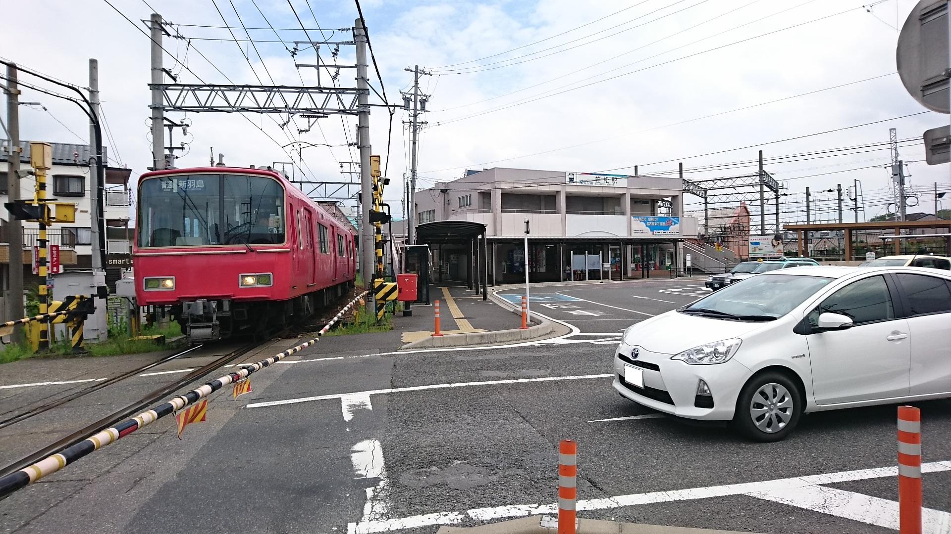 2017.8.3 笠松 (30) 中央駅舎と新羽島いきふつう 1920-1080
