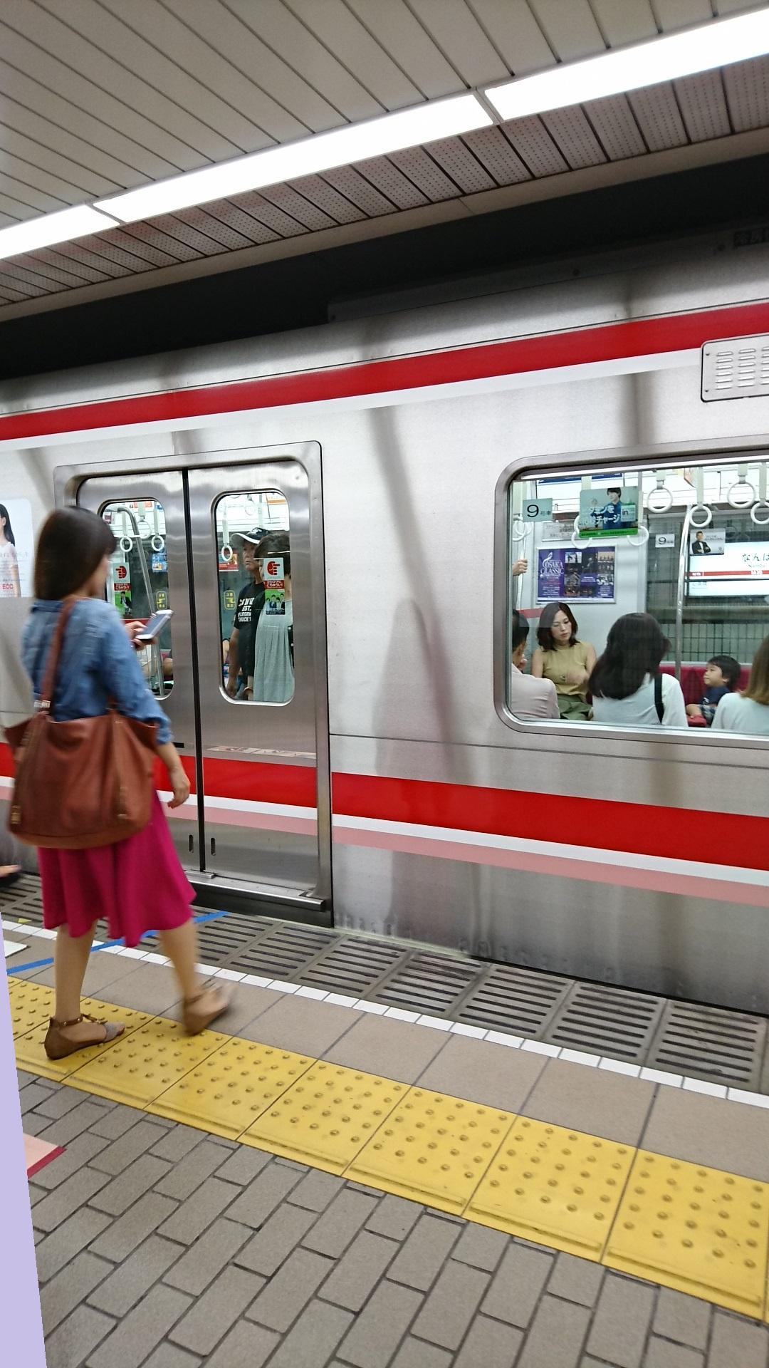 2017.8.18 地下鉄御堂筋線 (1) なんば - 新大阪いき 1080-1920