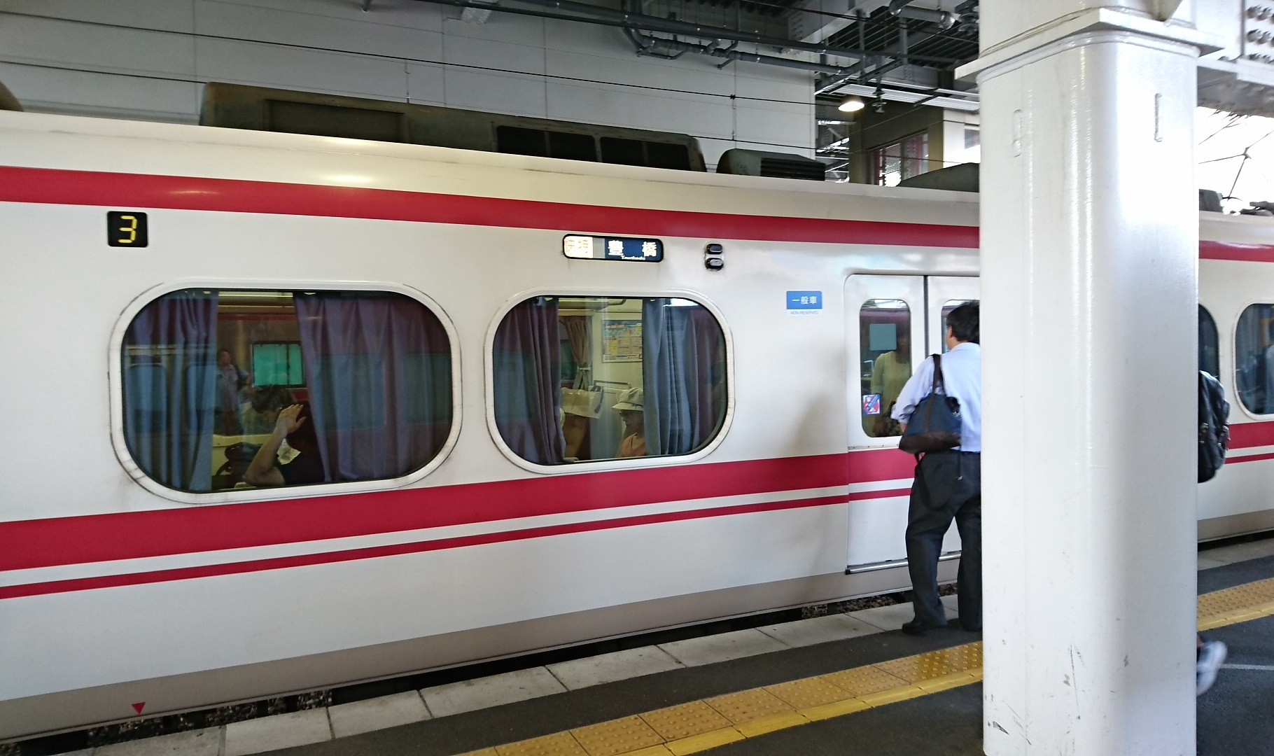 2017.8.30 豊川 (4) 東岡崎 - 豊橋いき快速特急 1820-1080