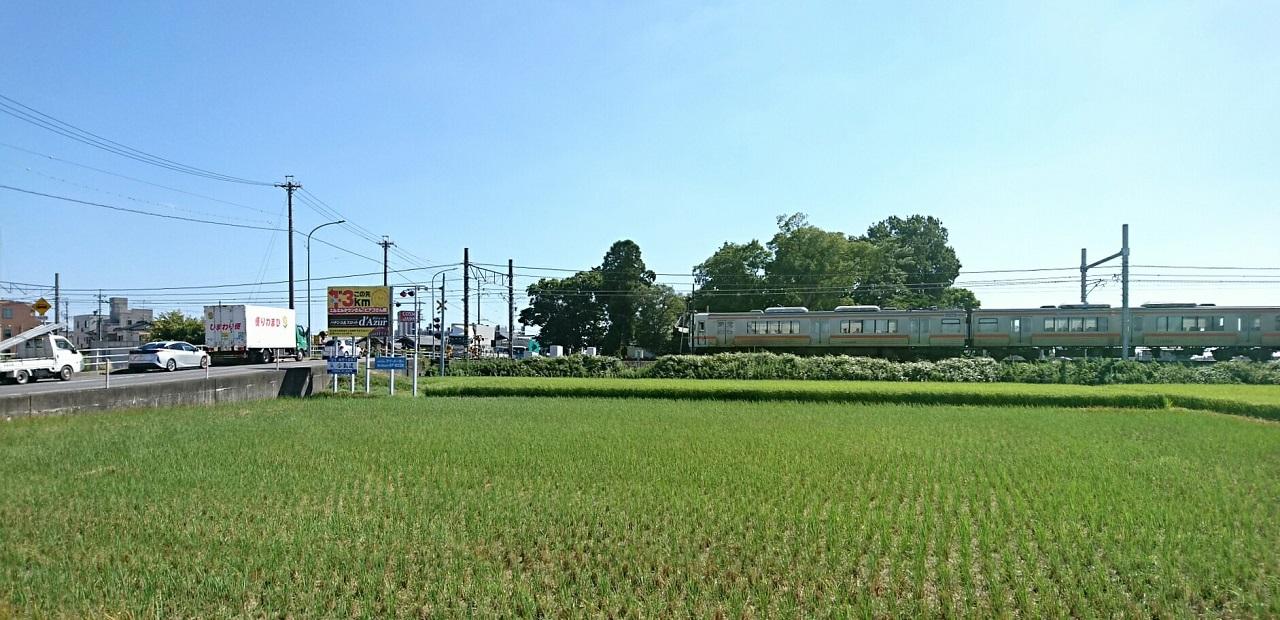 2017.9.9 西岡崎にしふみきり - ひがしいき電車 1280-620