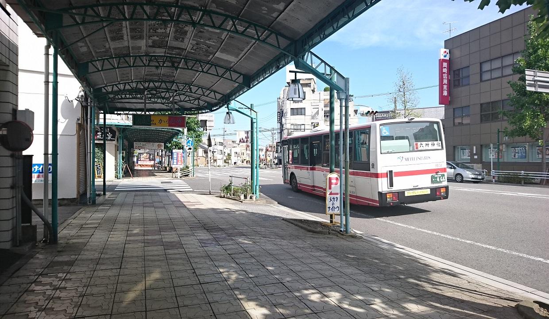 2017.9.14 岡崎 (26) 本町バス停 - 上米河内いきバス 1240-720