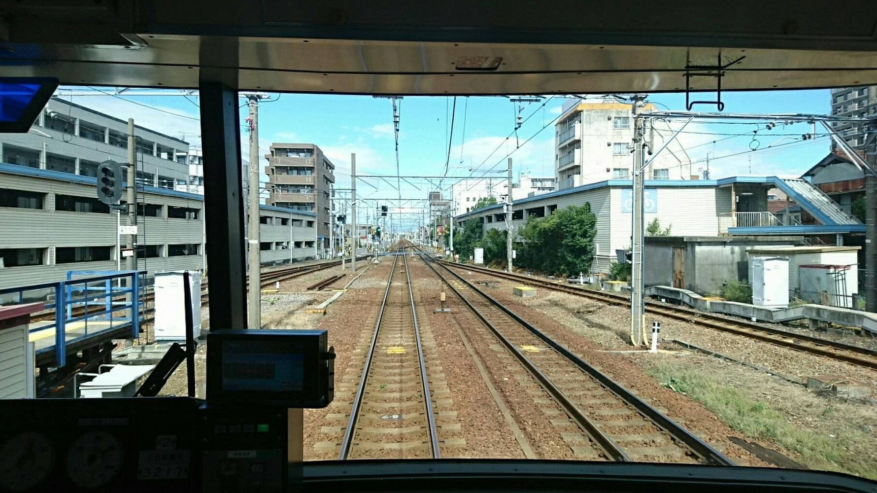 2017.9.18 名古屋 (8) 岐阜いき急行 - しんあんじょうしゅっぱつ 1780-1000