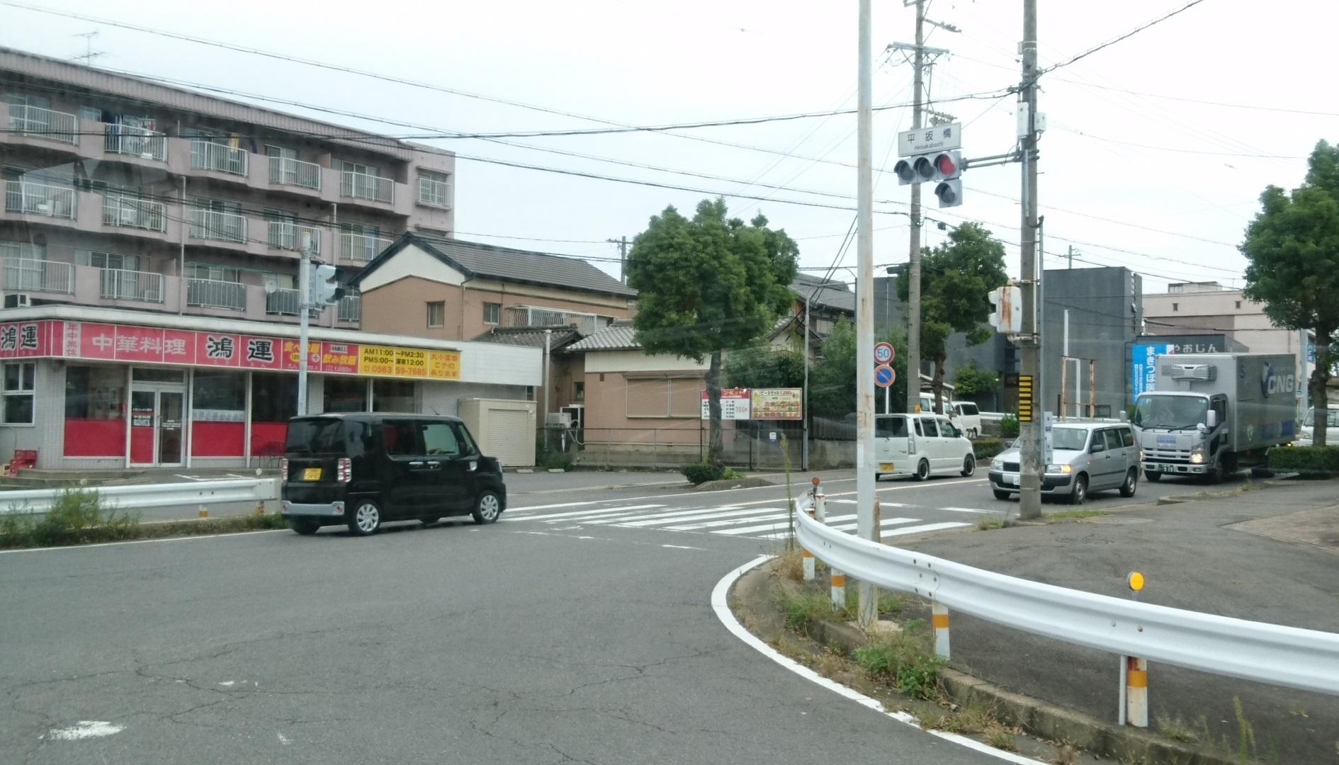 2017.9.27 平坂 (65) 平坂・中畑線バス - 平坂橋交差点を右折 1890-1080