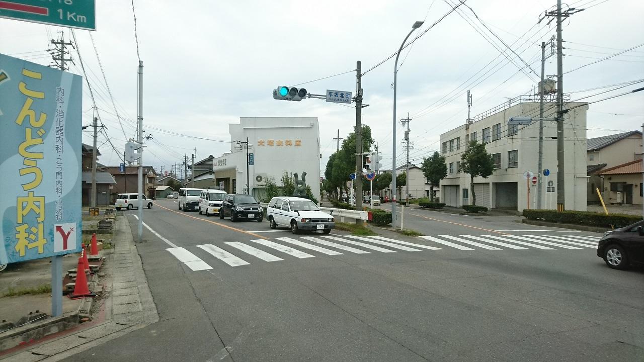 2017.9.27 平坂 (66) 平坂・中畑線バス - 平坂北町交差点を左折 1280-720