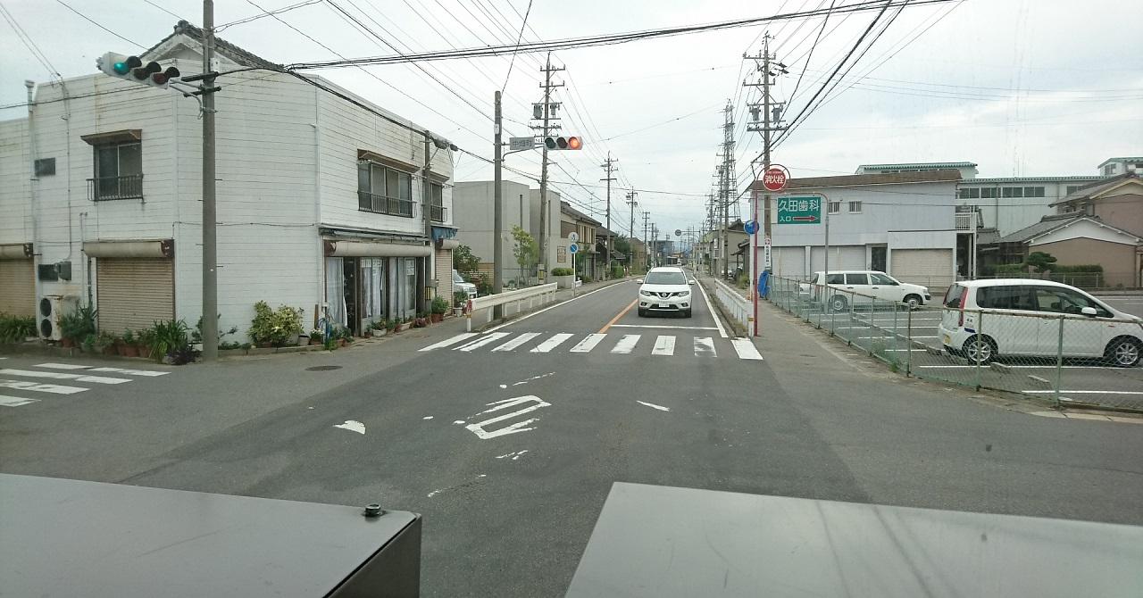 2017.9.27 平坂 (67) 平坂・中畑線バス - 中畑町交差点を左折 1280-670