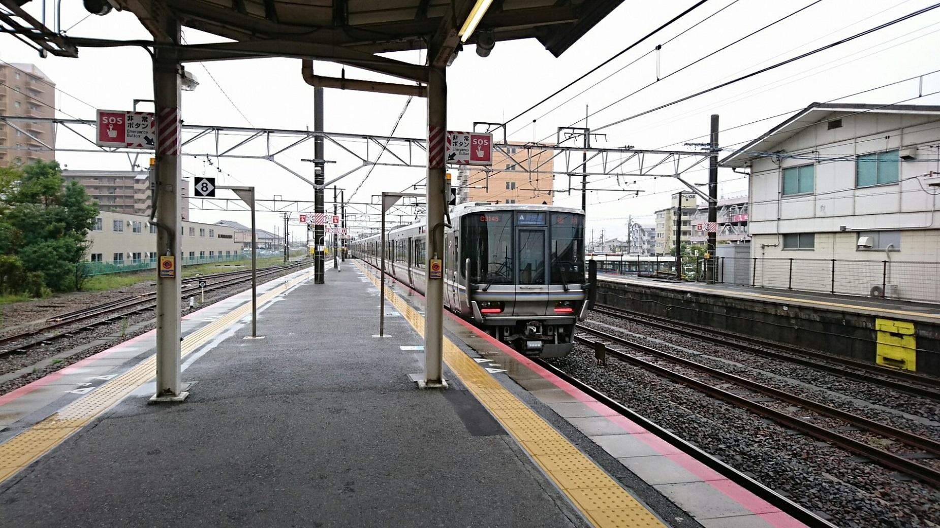 2017.10.7 近江八幡 (17) 近江八幡 - 姫路いき新快速 1850-1040