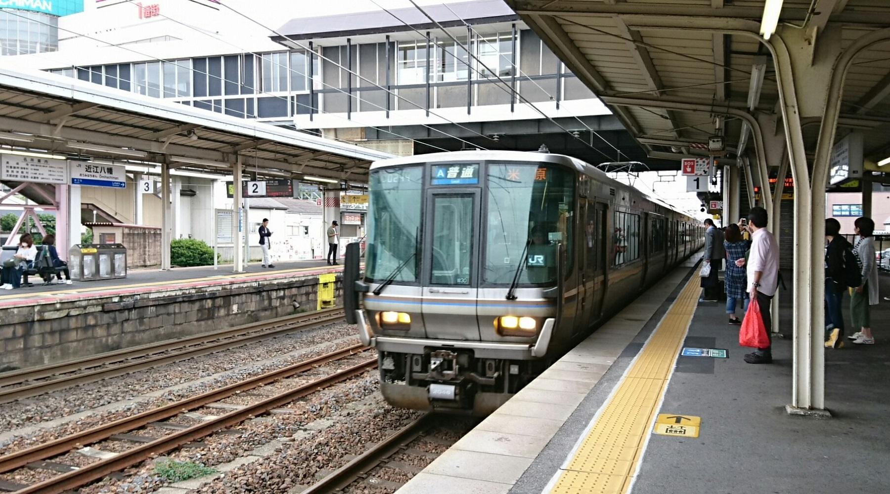 2017.10.7 彦根 (2) 近江八幡 - 米原いきふつう 1800-1000