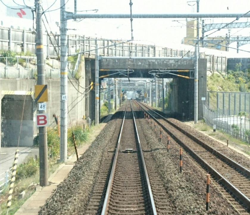 2017.10.11 東海道線 (11) 豊橋いき新快速 - みかわあんじょうてまえ 840-720