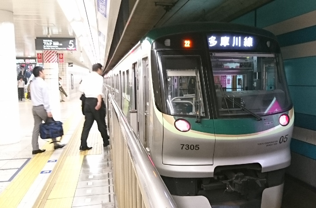 2017.10.12 東京 (27) 多摩川 - 蒲田いき各停 1090-720