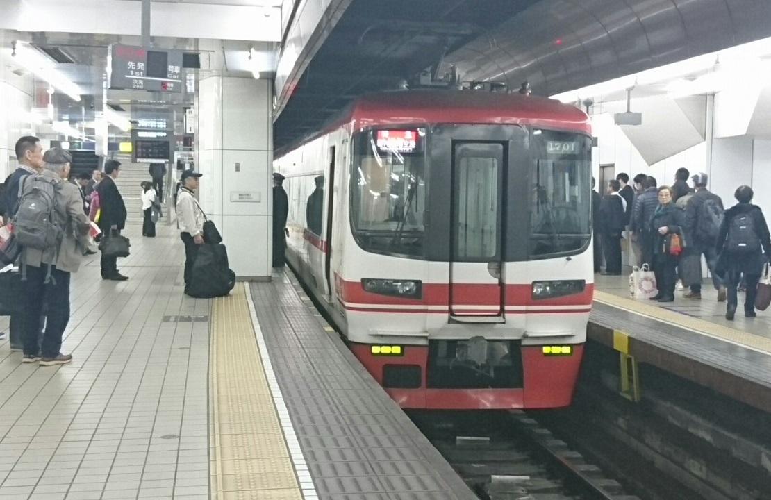2017.11.17 かえり (1) 名古屋 - セントレアいき特急 1110-720