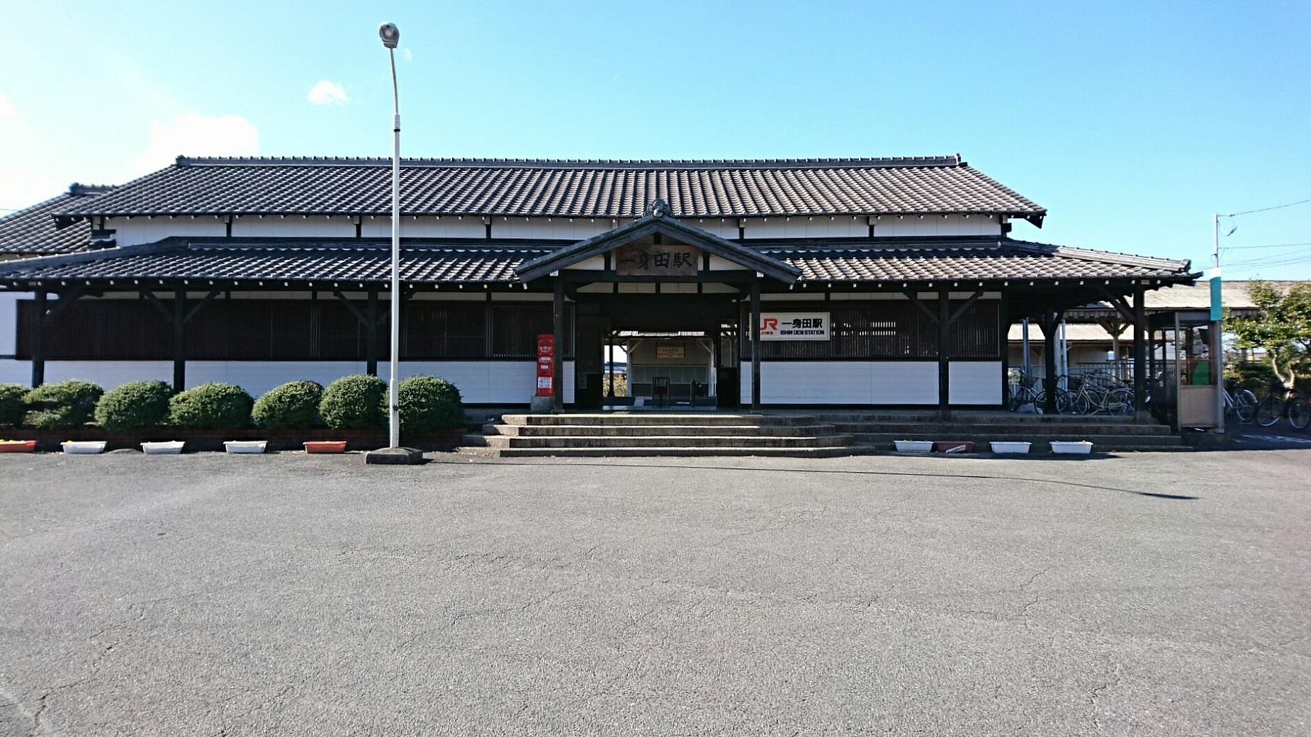 2017.12.12 松阪 (1) 一身田 - 駅舎 1850-1040