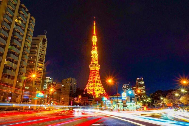 赤羽橋から撮影した東京タワー