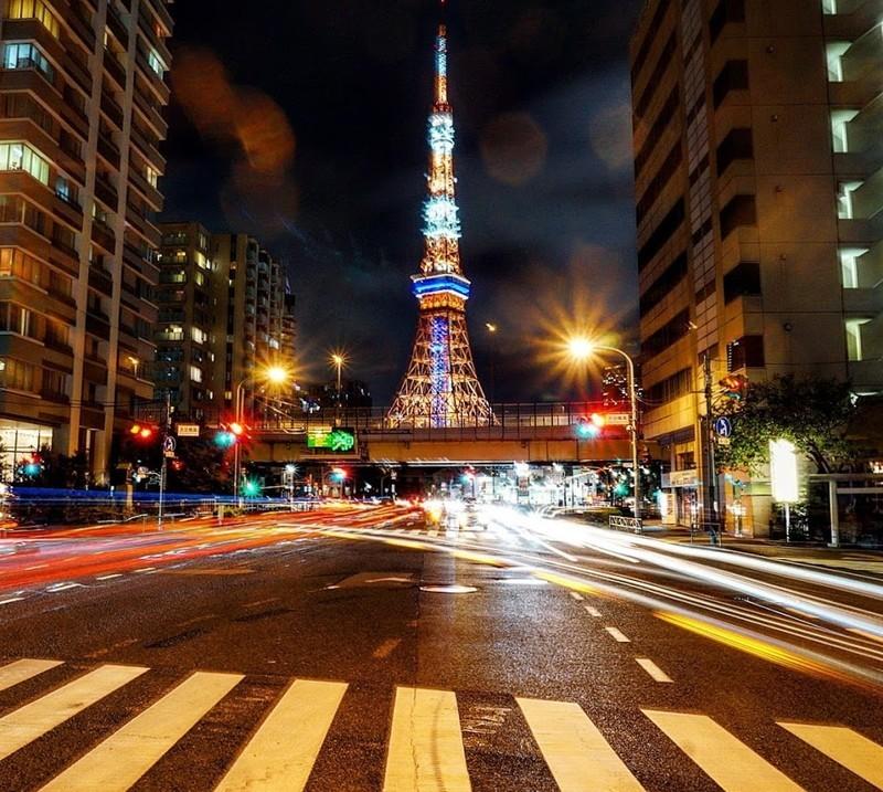三田五丁目から撮影した東京タワー