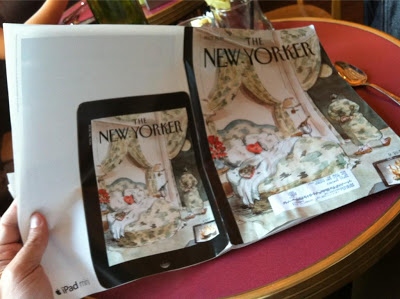 iPad miniの広告とThe New Yoker