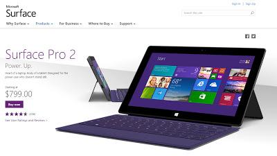 Surface Pro2 Microsoft Store 米国 2014年10月22日