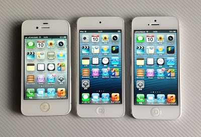 iPhone4S、iPod touch第5世代、iPhone5