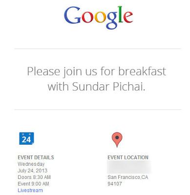breakfast with Sundar Pichai