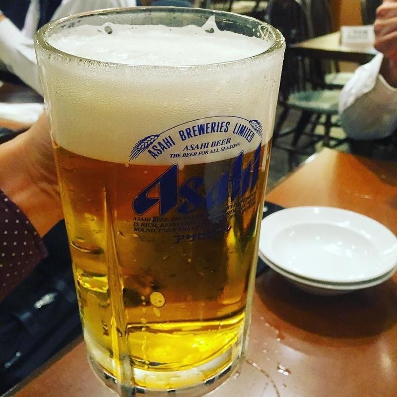 Asahi Beer at Asakusa Bar
