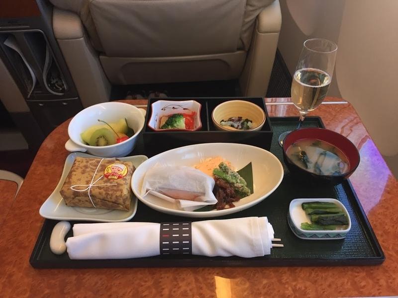 2016年06月: JAL907(東京・羽田=沖縄・那覇) ファーストクラス 機内食