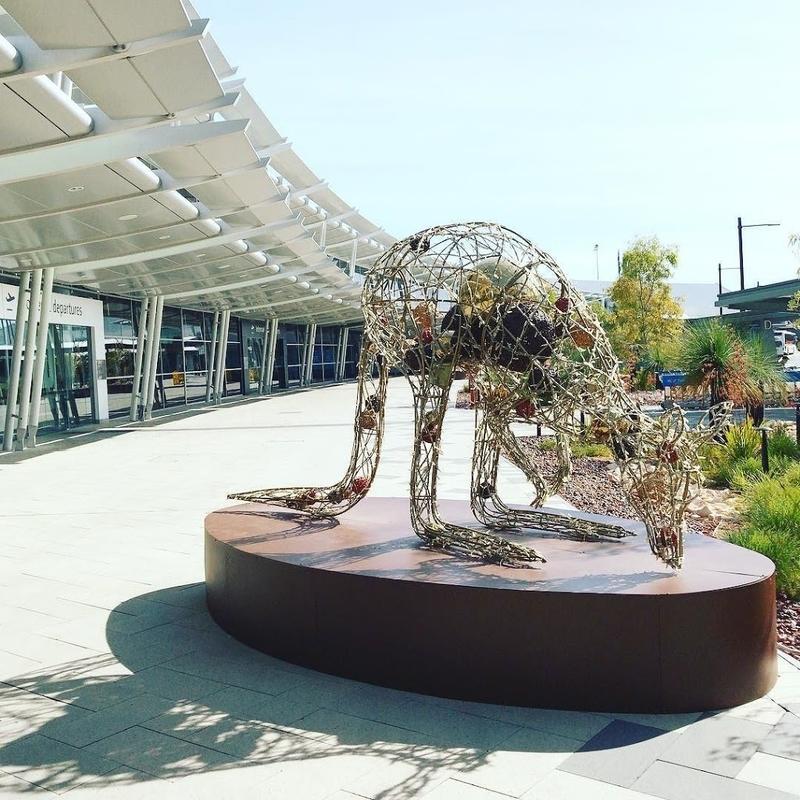 カンタス航空インターナショナルビジネス(オーストラリア・パース国際空港)