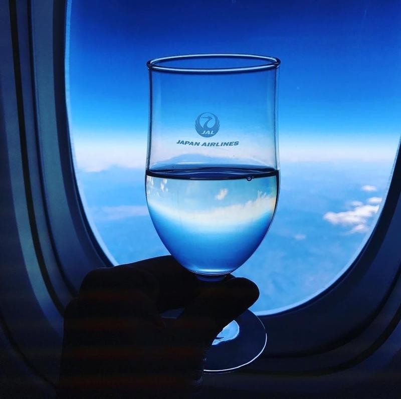 日本航空・JAL国内線ファーストクラスの風景