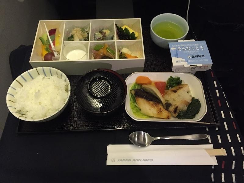 JAL・国際線・機内食・JL035