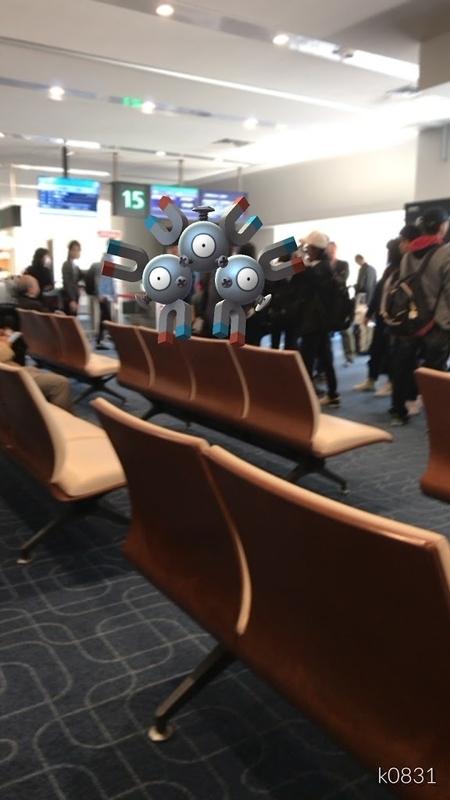 2016年12月上旬に羽田空港内で遭遇したポケモン