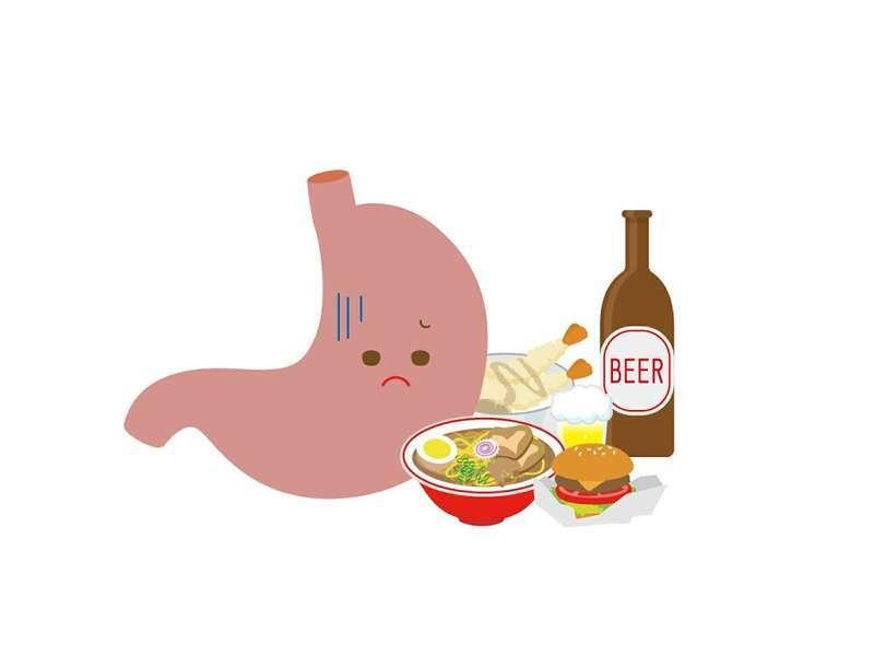 ラーメンやアルコールなどの食事で弱った胃腸