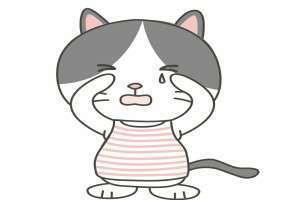 泣きわめく猫のイラスト