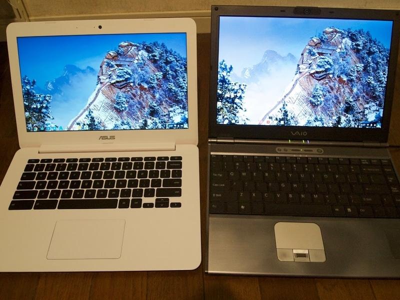 ASUS Chromebook C300MAとVAIO